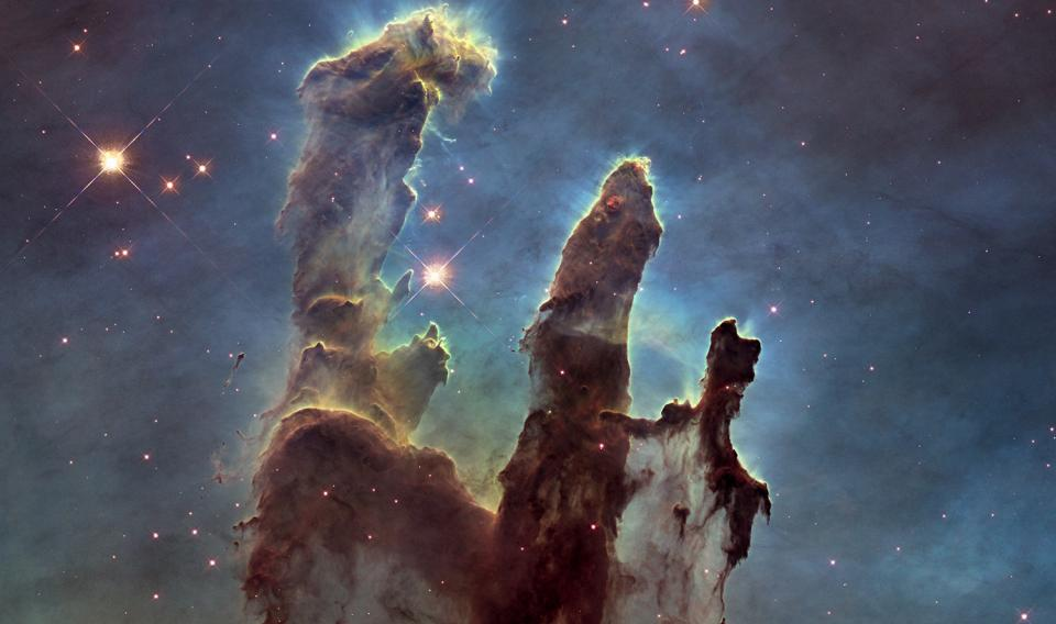 Pillars in the Eagle Nebula from Hubble (2014)