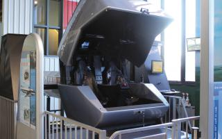 Flight Simulator machine at the Franklin Airshow exhibit at The Franklin Institute.