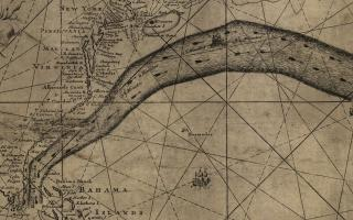 [Franklin-Folger chart of the Gulf Stream] by Benjamin Franklin (American, 1706-1790) and Timothy Folger, ca. 1768