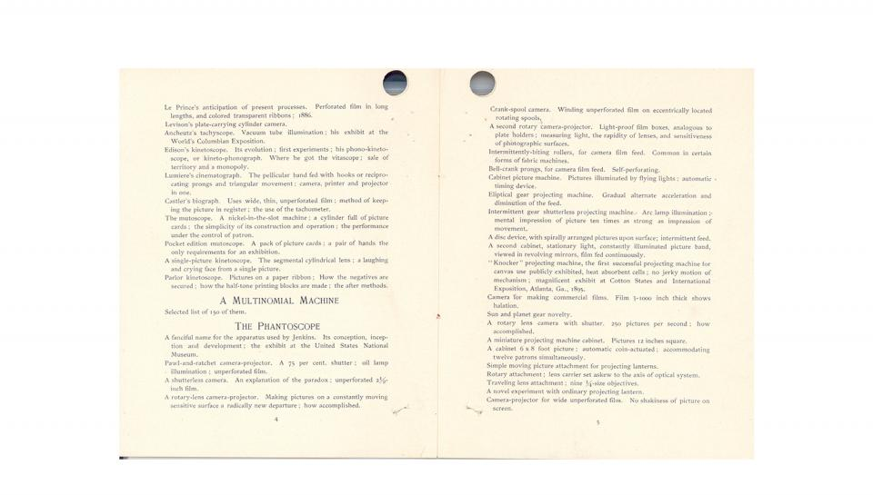 """Page 4and 5 of 11:""""Animated Pictures, An Exposition of the Historical Development of Chronophotography, its Present Scientific Applications, and Future Possibilities...,"""" 1898."""