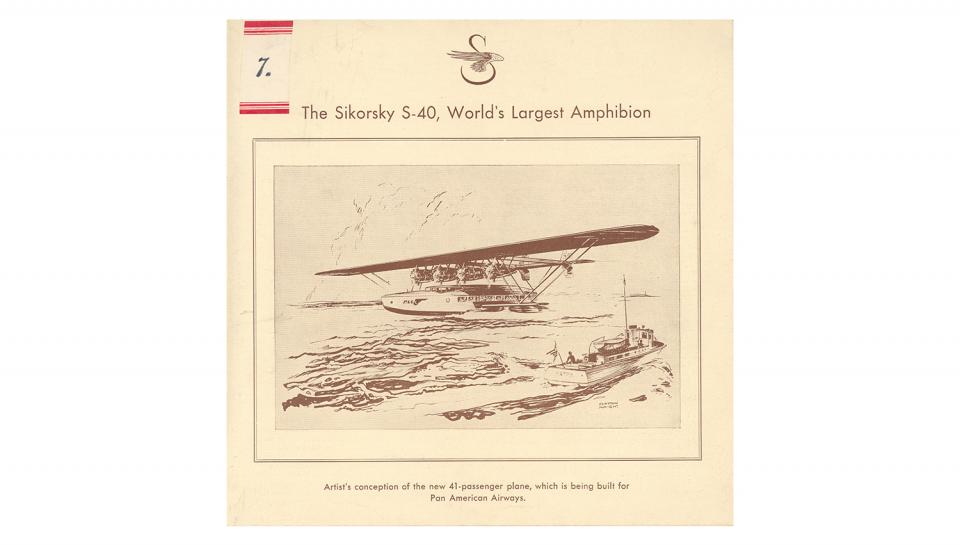 1st page out of 4 Description of the Sikorsky S-40 Amphibion.